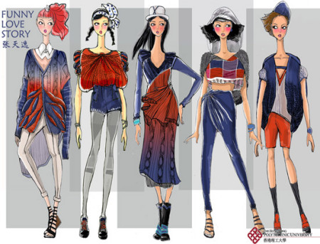 服装设计手稿人体线稿_时装画设计图__服装设计_广告设计_设计图库