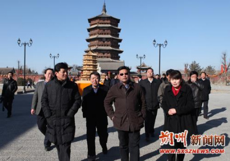 广东省委常委、宣传部长林雄在山西朔州考察_