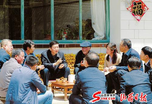 骆惠宁在忻州吕梁贫困地区驻村调研