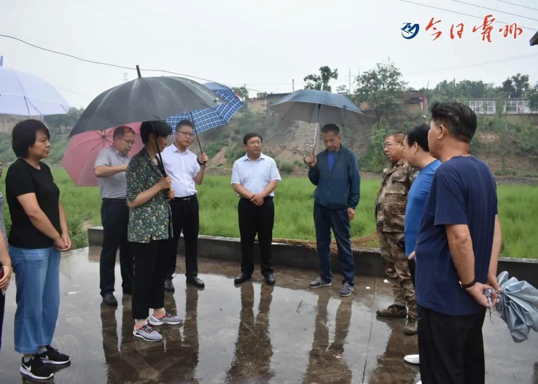 霍州市委副书记 、统战部长高雅铭检查防汛工作