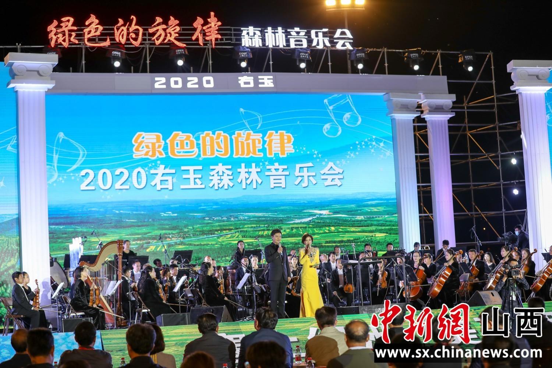 """""""塞上绿洲""""右玉举办2020森林音乐会 再次奏响绿色生命的旋律"""