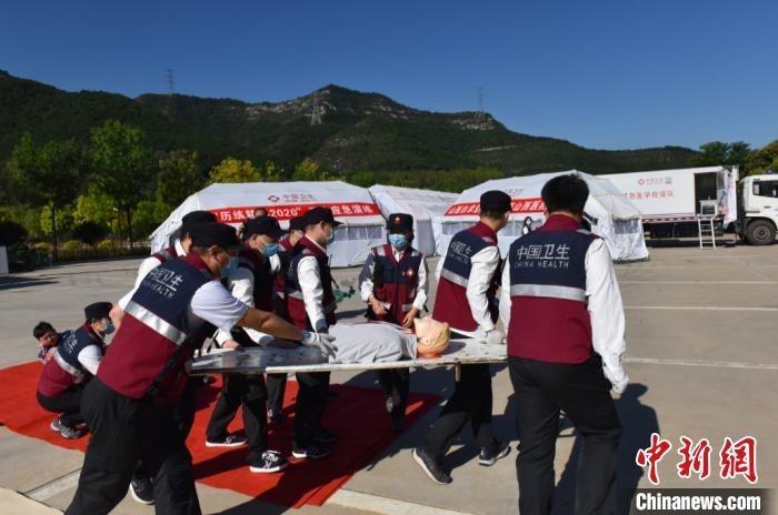 山西举行紧急医学救援实战演练 提升突发疫情处置能力