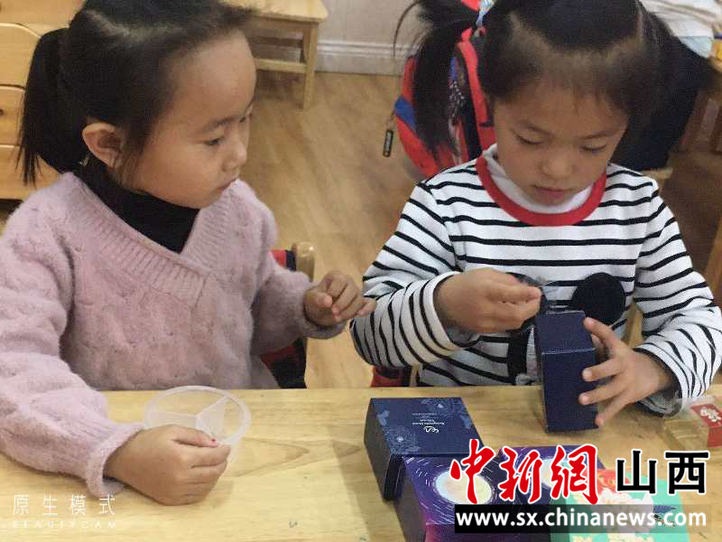 """""""太原小店区:废旧月饼盒变身记"""