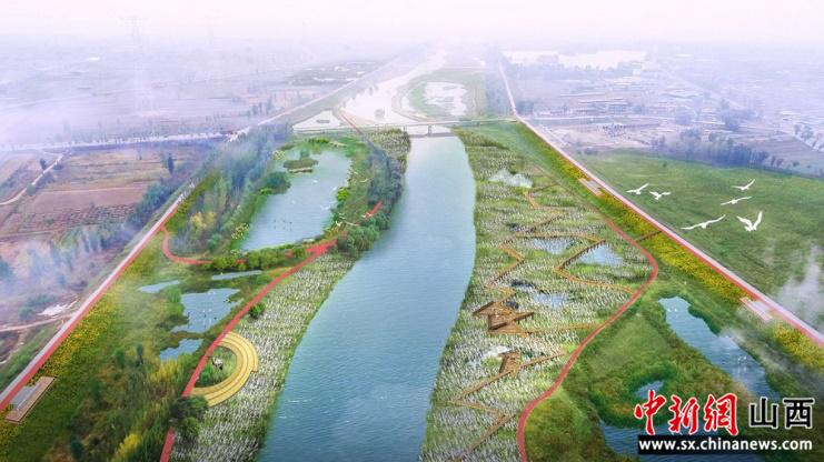 汾河百公里中游生态治理工程祁县率先开工