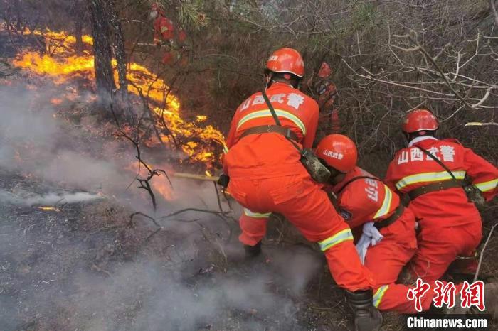 """""""山西平定发生山火 起火原因正在调查"""
