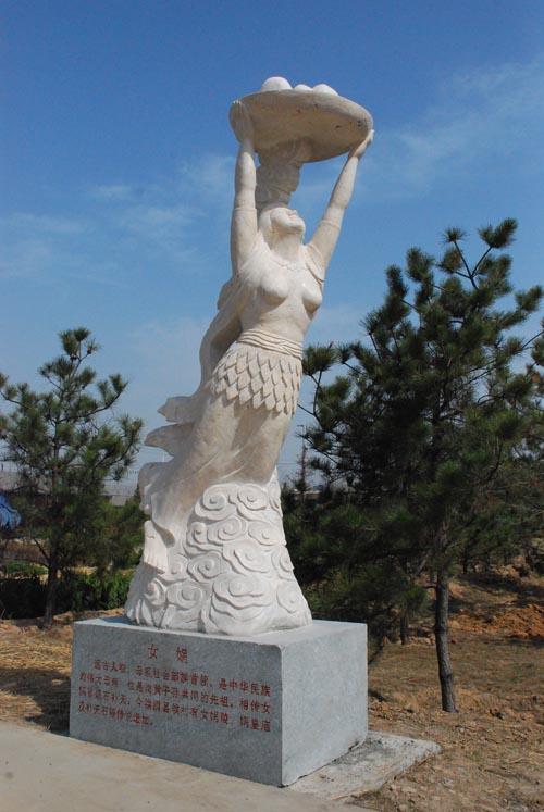 洪洞大槐树风景区清明前设古代人物雕塑(图)