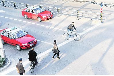 在太原市,50万辆的汽车保有量和城市面积