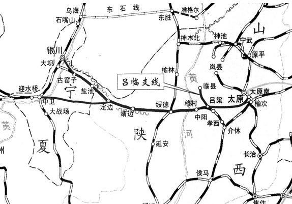 青岛至包头火车路线图