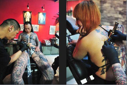 qq头像女生纹身社会人