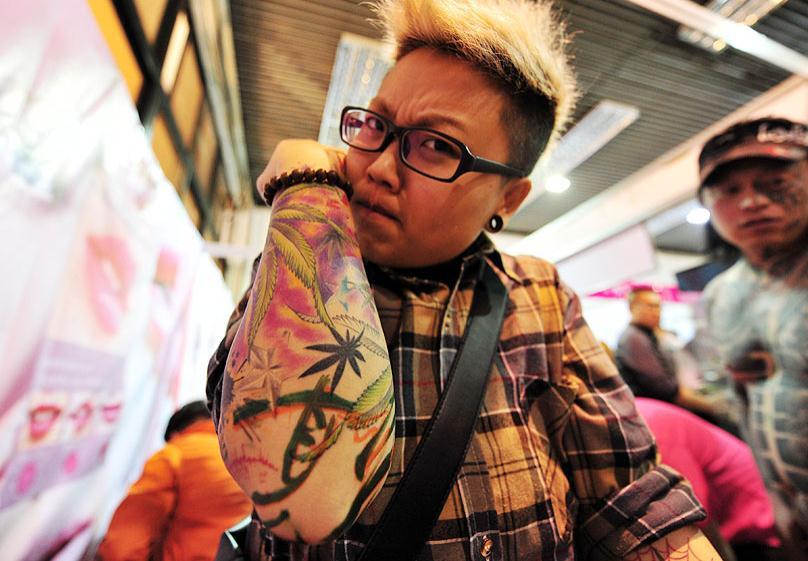 太原:山西纹身技能大赛(组图)