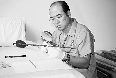 第一次前往台湾展示自己特殊的技艺.
