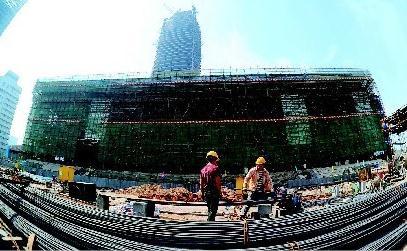 山西省第一个钢结构超高层建筑——太原湖滨广场主楼