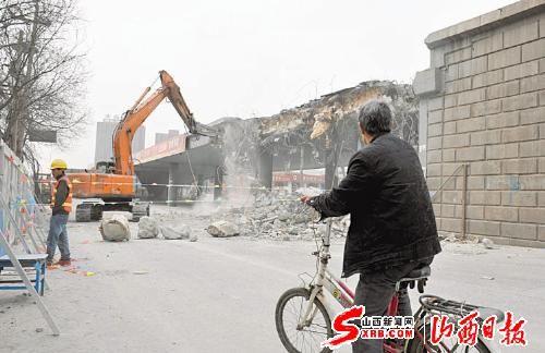 太原建设南路学府街立交桥拆除