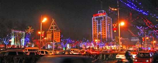 山西省孝义市正月十五灯会欣赏
